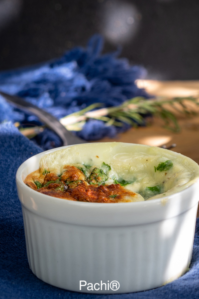 Spinach & Cheese Souffles