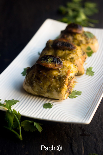 Rolled Chicken Breasts Roasted Mushrooms