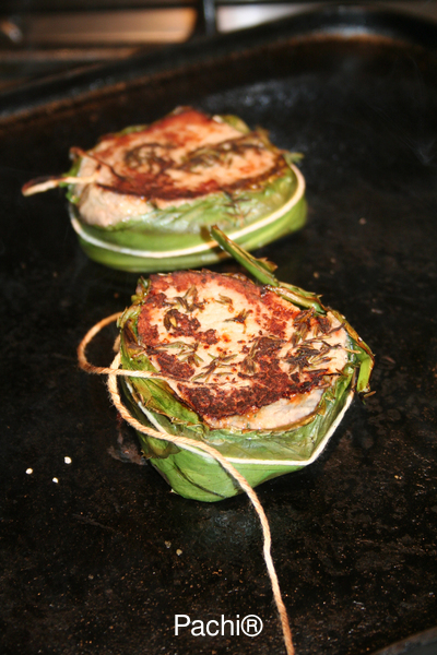 Tenderloin Steaks Wrapped in Herbs